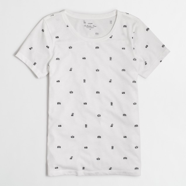 Camera collector T-shirt in airy cotton