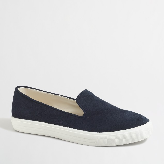 Suede loafer sneakers