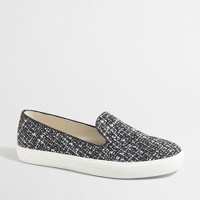 Tweed slip-on loafer sneakers
