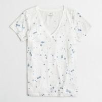 Paint splatter V-neck T-shirt