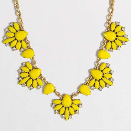 Tropical fan necklace