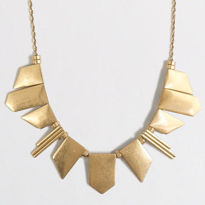 Golden angles necklace