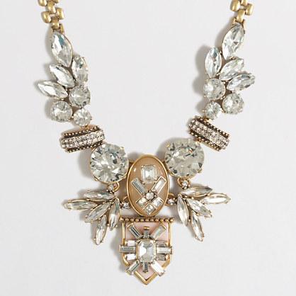 Fanned jewel necklace