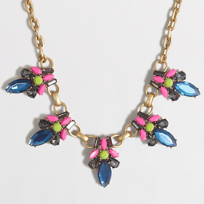 Neon stone jewel necklace