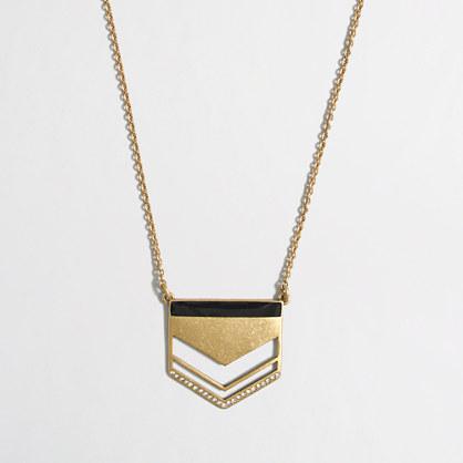Golden arrow pendant