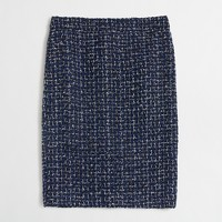 Petite tweed pencil skirt