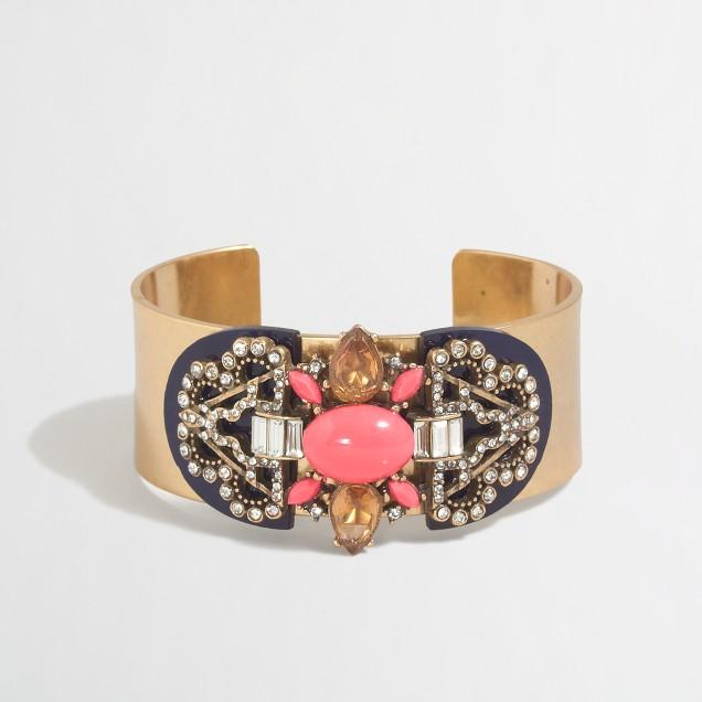 Stone collage cuff bracelet