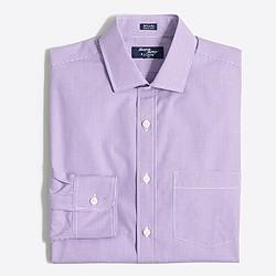 Tall Thompson dress shirt in mini-check