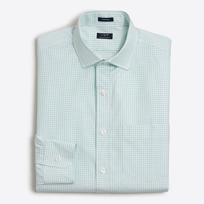 Tall Thompson dress shirt in mini-check