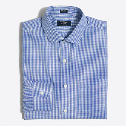 Thompson dress shirt in mini-check