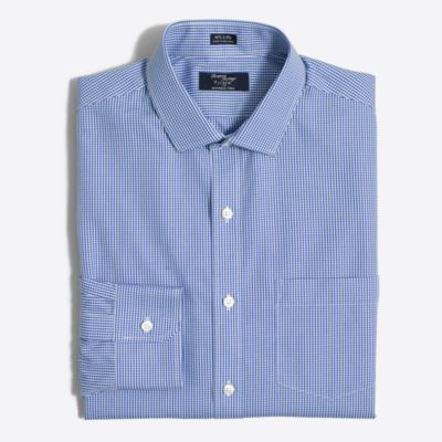 Thompson dress shirt in mini-check factorymen dress shirts c