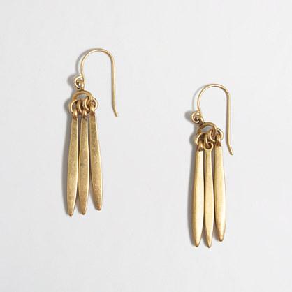 Triple-prong earrings