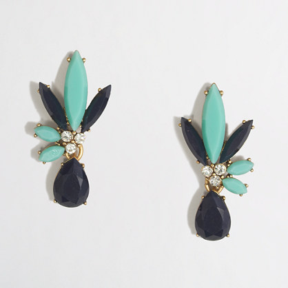 Split-stone flower earrings