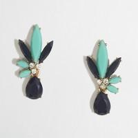 Split-stone flower earrings