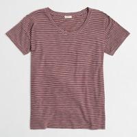 Striped drop-shoulder T-shirt