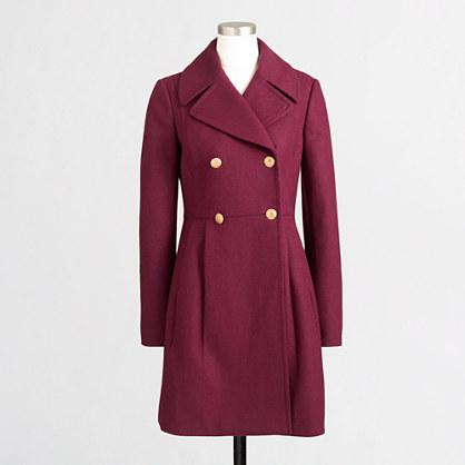 Petite wool dress coat : Petites | J.Crew Factory