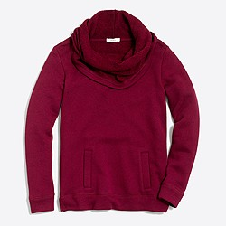Petite funnelneck sweatshirt