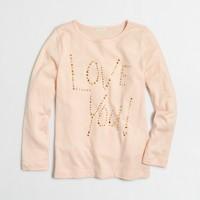 Girls' long-sleeve love you keepsake T-shirt