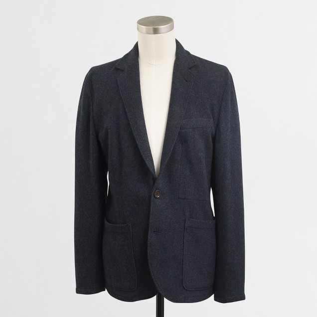 Thompson unconstructed blazer in wool blend