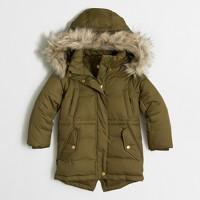 Kids' faux-fur-hood puffer parka