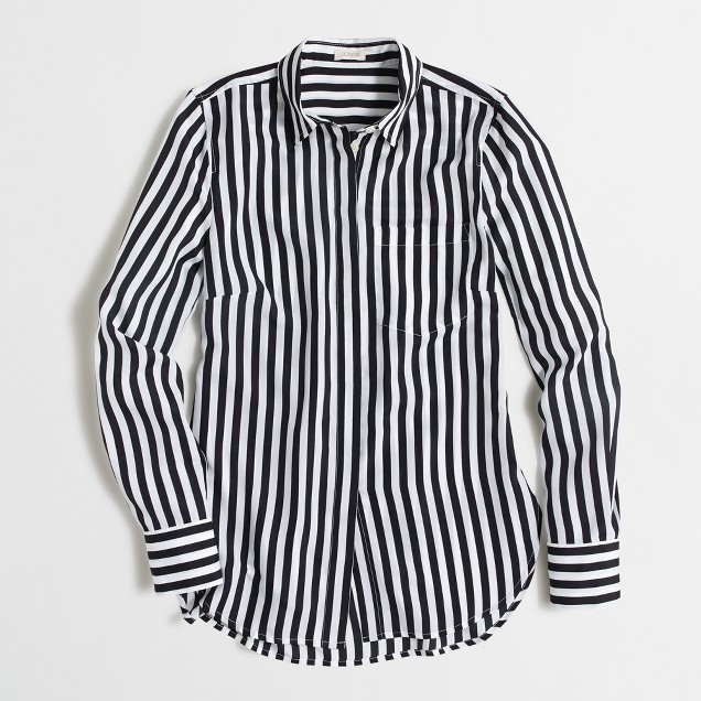 Printed classic dress blouse