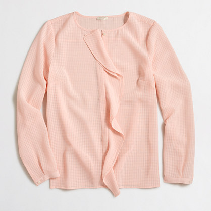 Cascade ruffle blouse