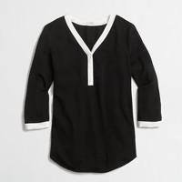 Three-quarter-sleeve popover shirt