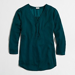 Three-quarter-sleeve popover shirt