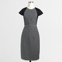 Striped tweed dress