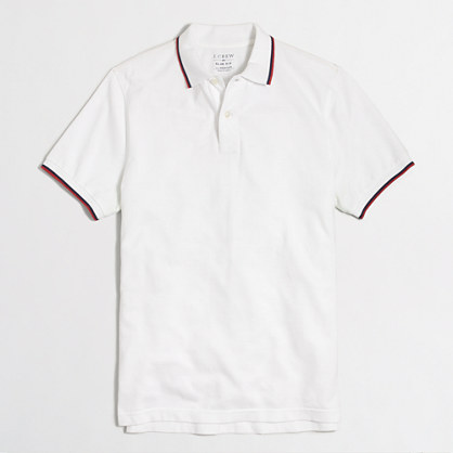 Slim tipped piqué polo shirt