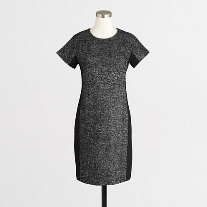 Zip-back tweed dress