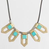 Metal arrows cord necklace