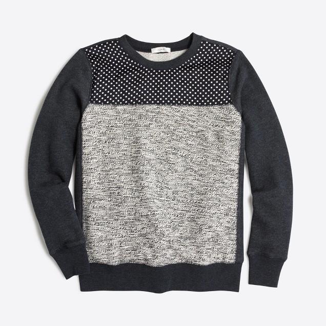 Mixed-media sweatshirt