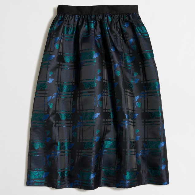 Plaid jacquard skirt