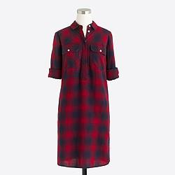 Petite flannel shirtdress