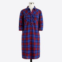 Petite flannel shirtdress