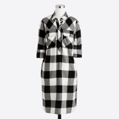 Flannel shirtdress   sale