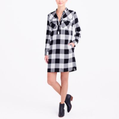 Flannel shirtdress