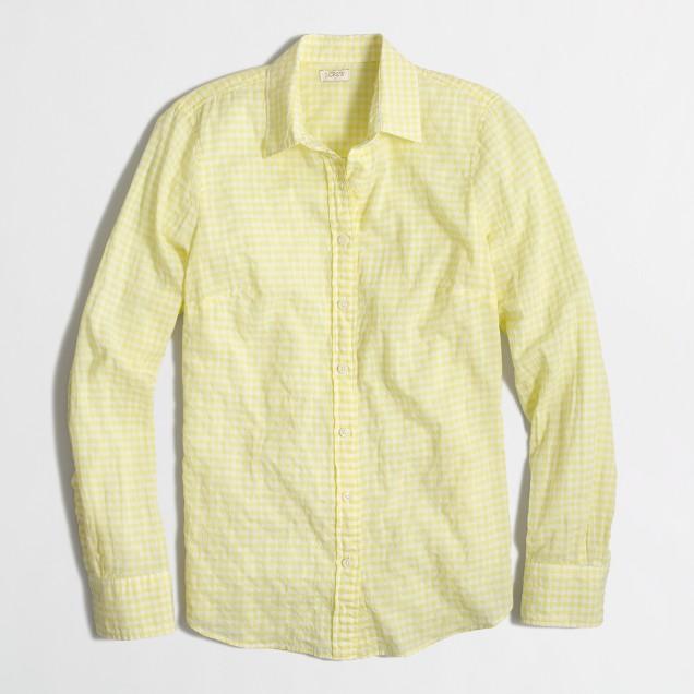Puckered gingham shirt