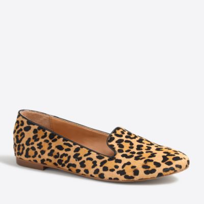 Cora leopard calf hair loafers
