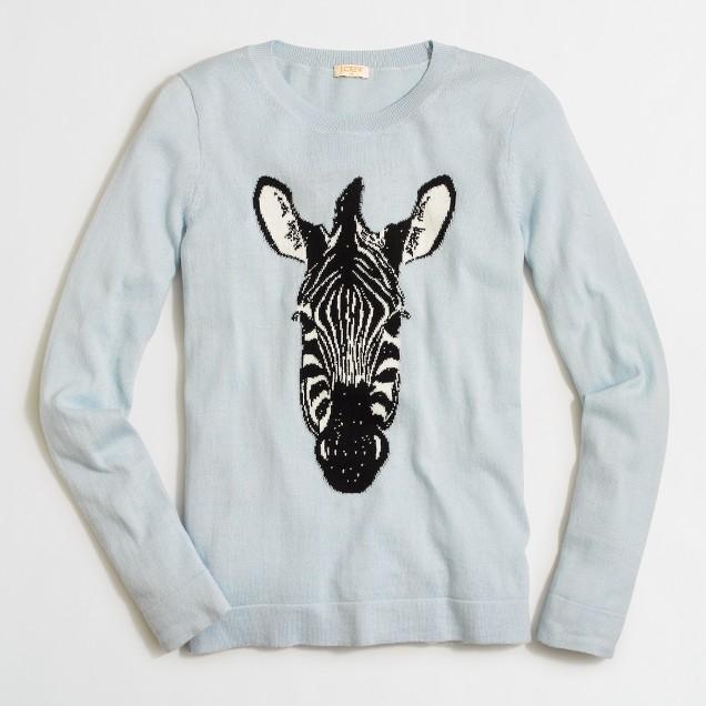 Intarsia zebra sweater