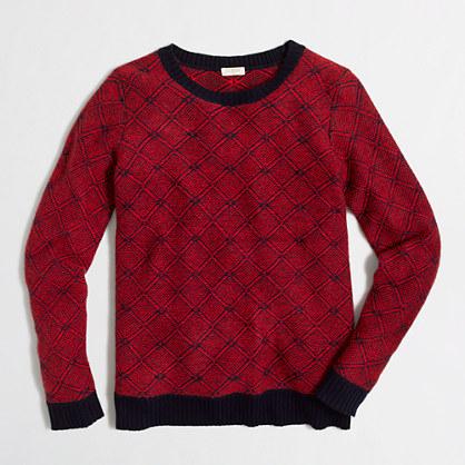 Diamond-jacquard sweater