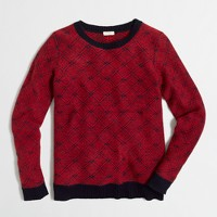 Diamond-jacquard sweater