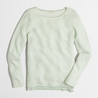 Chevron-stitch boatneck sweater