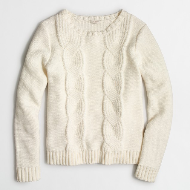 Cable-knit crewneck sweater : FactoryWomen Pullovers | Factory