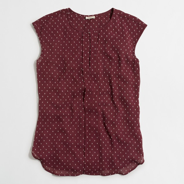 Swiss-dot tunic top