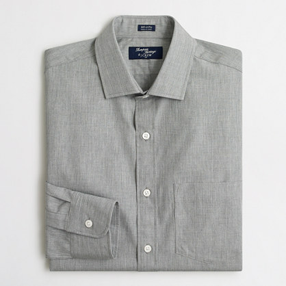 Thompson heathered plaid dress shirt