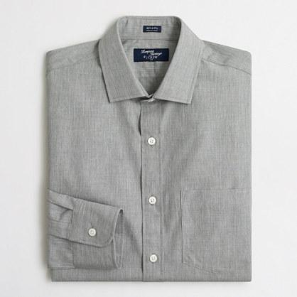 Thompson heathered plaid dress shirt