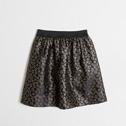 Girls' elastic waist jacquard skirt