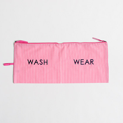 Wash and wear travel pouch